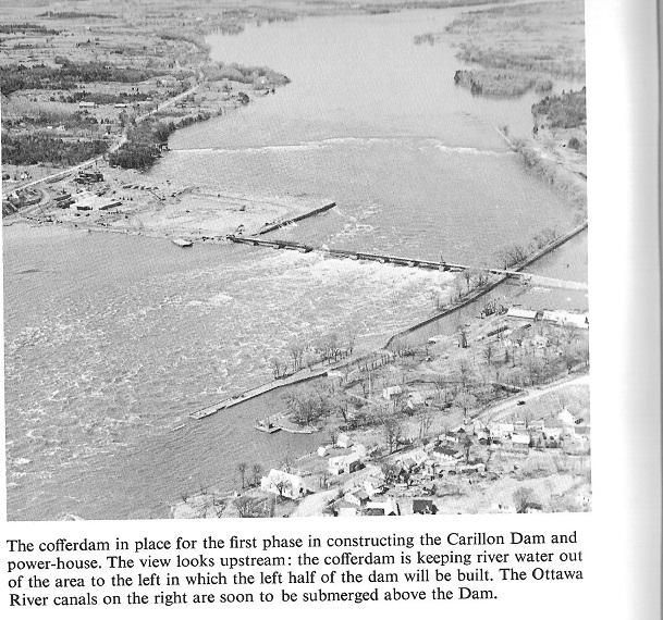 Construction of the Carillon Dam, Ottawa River