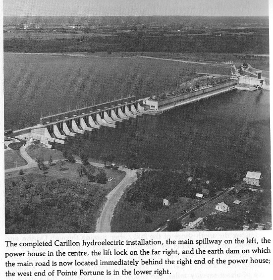 Overview photo of the Carillon Dam