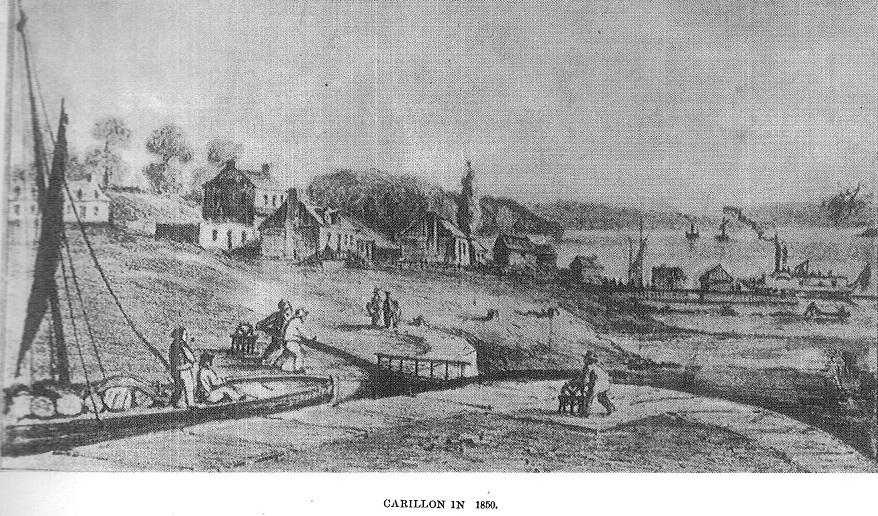 Carillon Dam, Ottawa River, in 1850