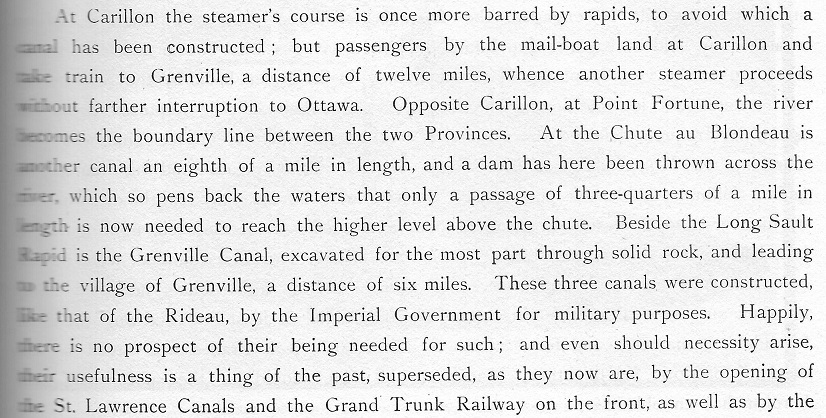 Carillon Dam text from Picturesque Canada