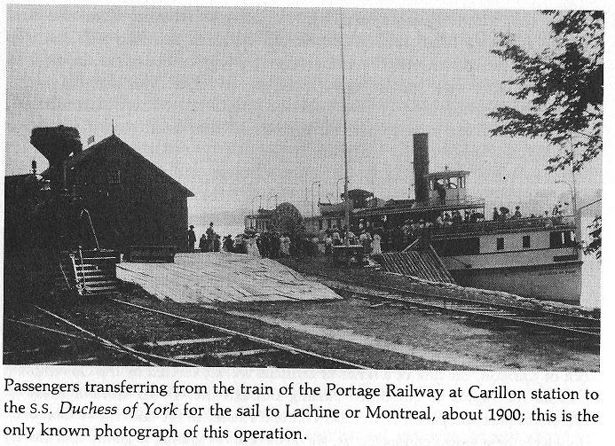 Carillon Canal Portage Railway