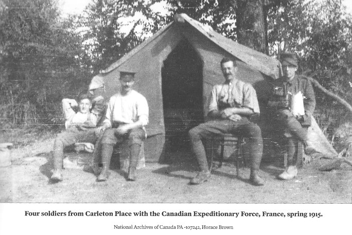 Soldiers from Carleton Place, Ontario, Canada, Canadien Expeditionary Force, France, 1915