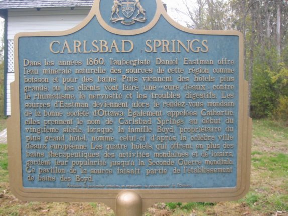 Carlsbad Springs, Ontario, Canada, French Sign