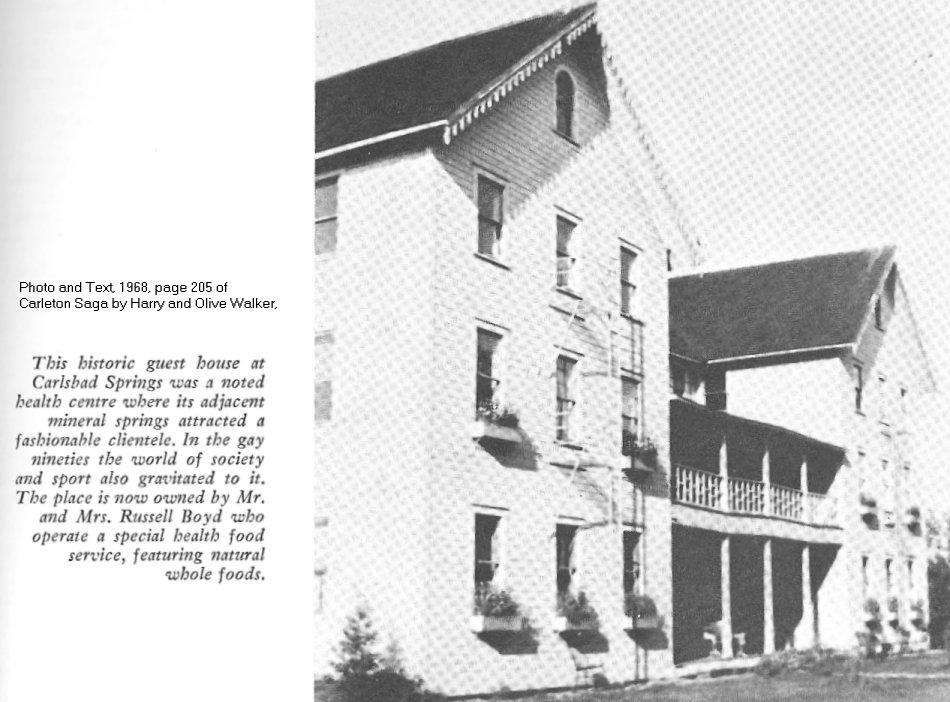 Carlsbad Springs Hotel, Ontario, Canada, in 1968