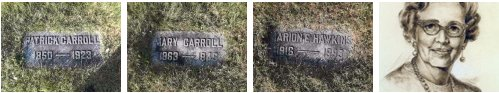 Carroll Grave Markers in Wisconsin, USA