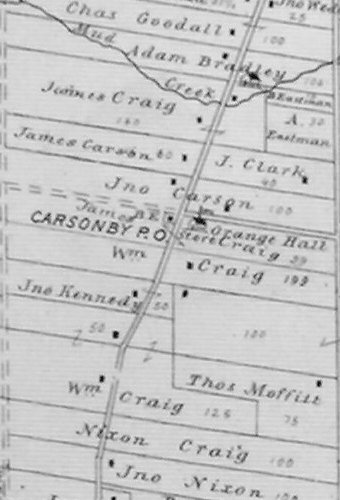 Carsonby, Ontario Map