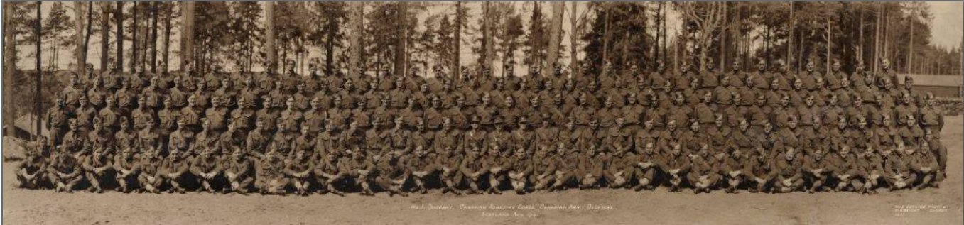 Company No. 1, Canadian Forestry Corps in Scotland in 1941