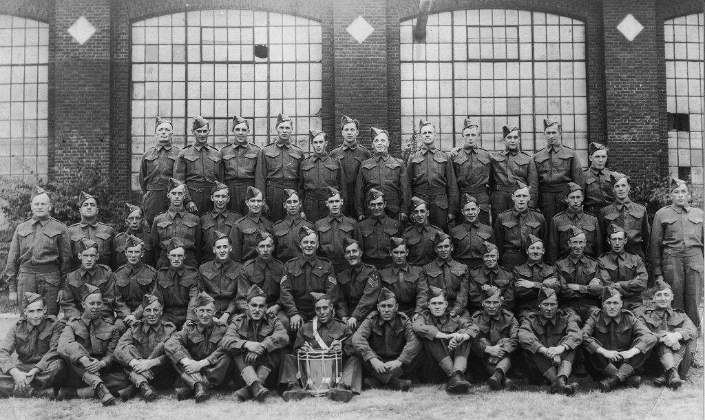 Canadian Forestry Corps, #8, before leaving Ottawa, Canada for Scotland, in 1941