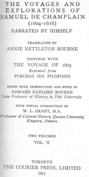 Part of the diary Samuel de Champlain, 1613