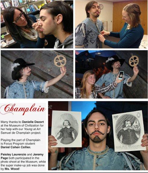 Merivale High School Fine Arts Department Champlain Poster
