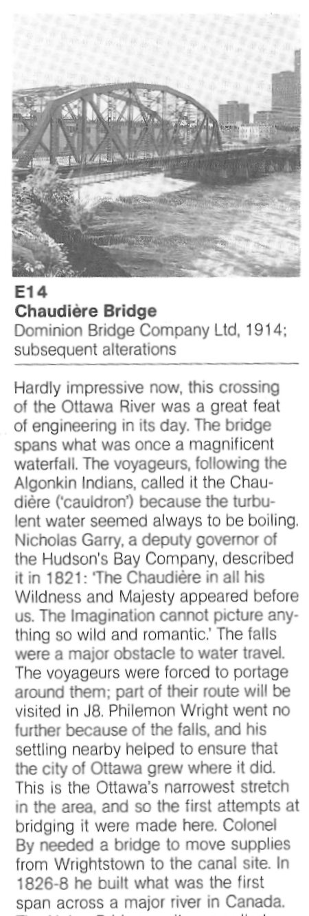Chaudiere Bridge, built in 1914