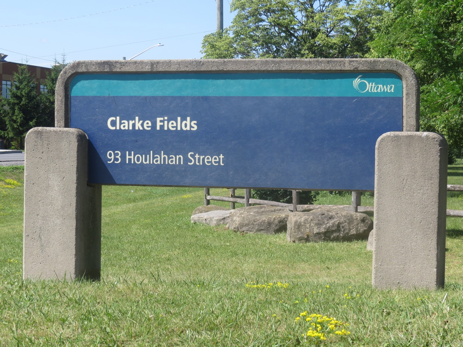 Clarke Fields Sign in Barrhaven, Ottawa, Canada