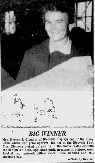 Mary Clemens, photo in 1957 Ottawa Citizen
