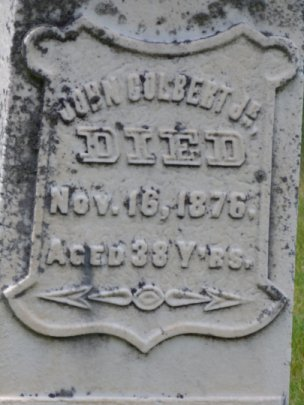 Tombstone for John Colbert, Junior, at Hazeldean, Ontario, Canada