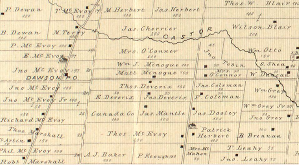 Patrick Coleman and John Coleman farms in Osgoode Township in 1879