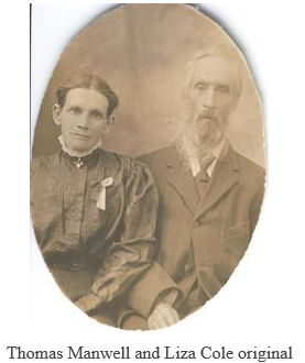 Thomas Manwell and Elizabeth Cole