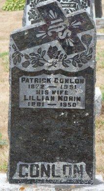 Tombstone for Patrick Conlon, South Gloucester, Ontario, Canada