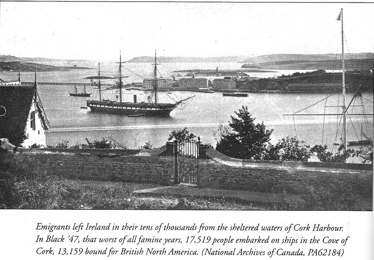 The following photo shows the port of the City of Cork (the Cove of Cork)