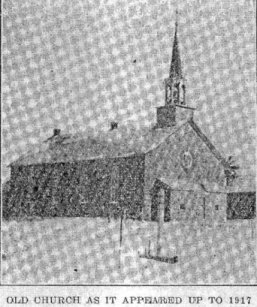 Church at Corkery, Ontario, Huntley Township,1917