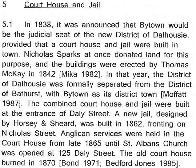 Court House and Jail Text