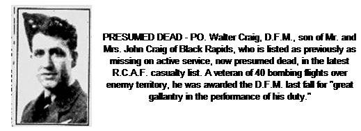 Walter David Craig, RCAF, Ottawa, Ontario, Canada