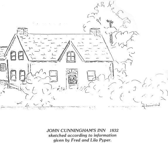 John Cunningham Inn, Gloucester Township, 1832