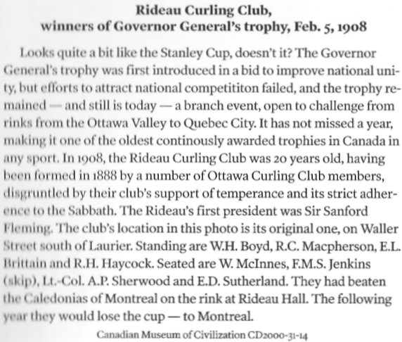 Ottawa Curling Club 1908