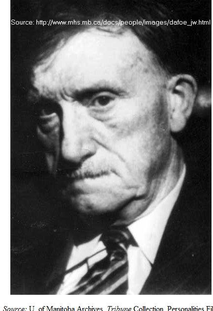 John W. Dafoe, editor of the Winnipeg Free Press