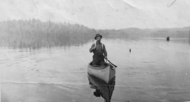 Picture of John Dale in a Canoe