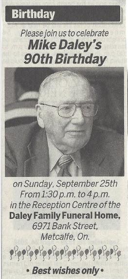 Michael Daley -- 90th Birthday Celebration