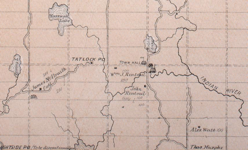 Map of Darling Township, Ontario, Canada in 1879