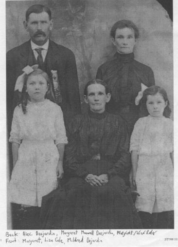 The Desjardins Family and Liza Cole, Pontiac County, Quebec, Canada