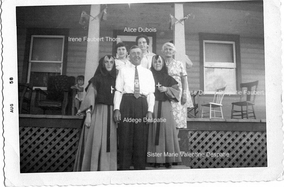 Despatie family in Val-des-Bois, Quebec, in 1958