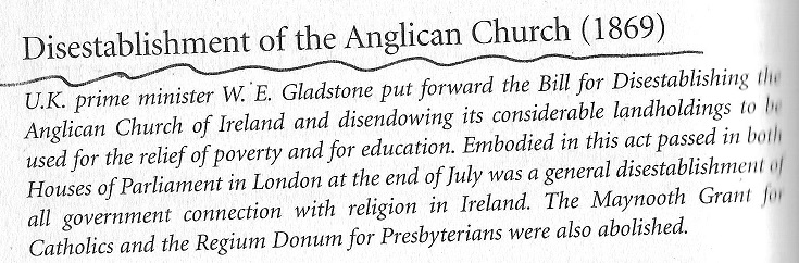 disestablishment of Anglican Church in 1869 in Ireland