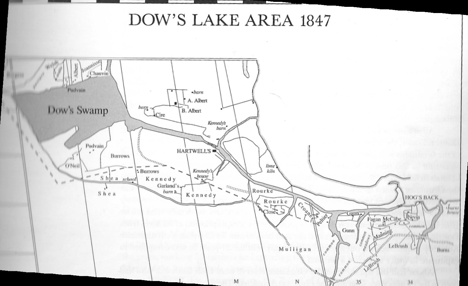 Dow's Lake in 1847