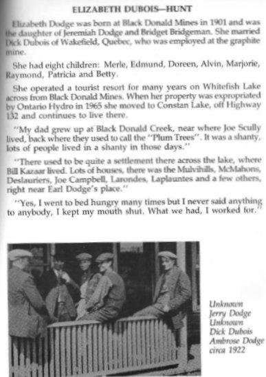 Elizabeth Dubois Hunt history