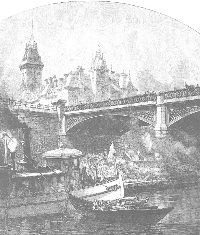 The Dufferin Bridge in Downtown Ottawa, c. 1870