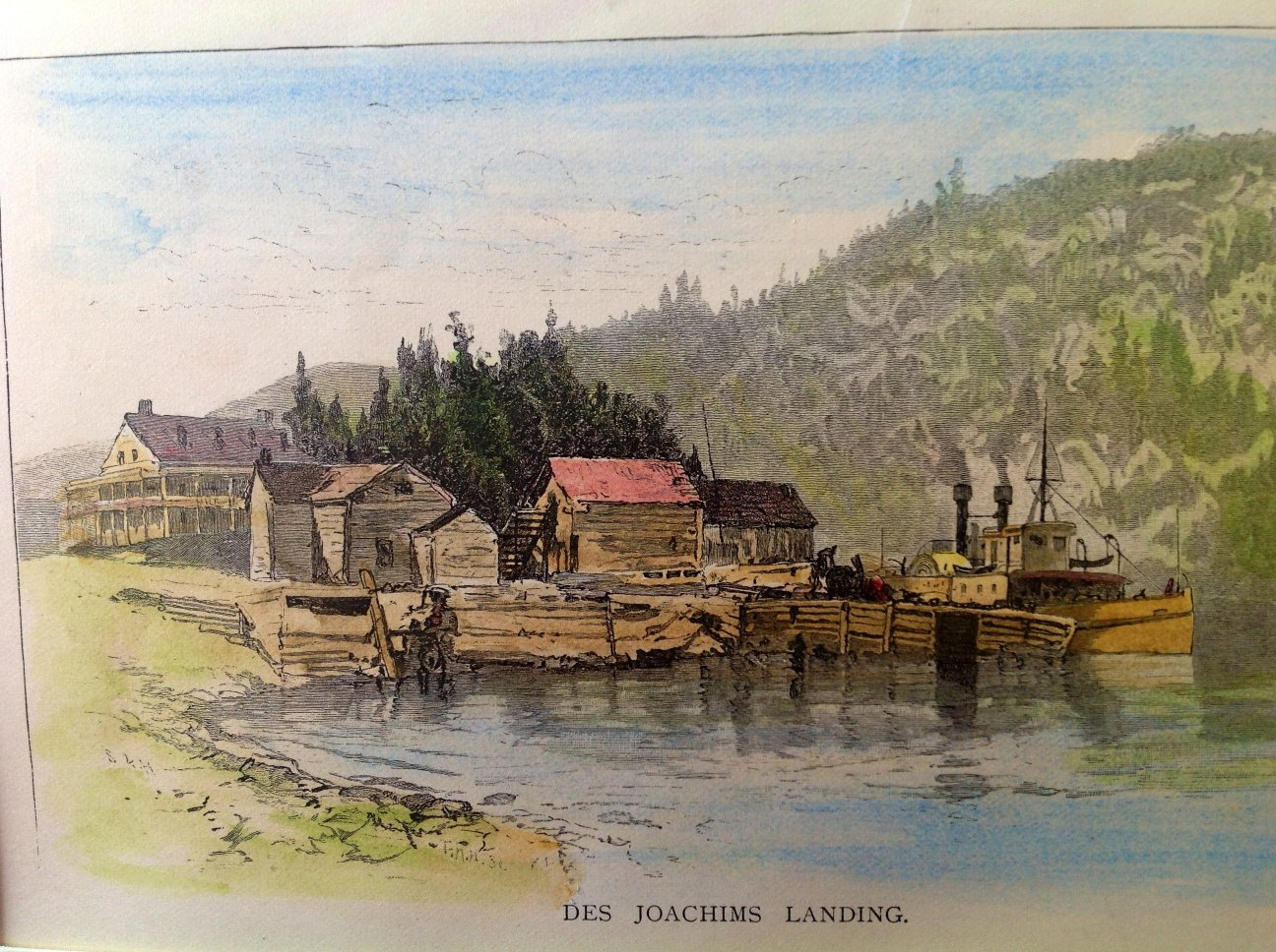 Painting at Des Joachims, Ottawa River, from Canadian Scenery, 1872