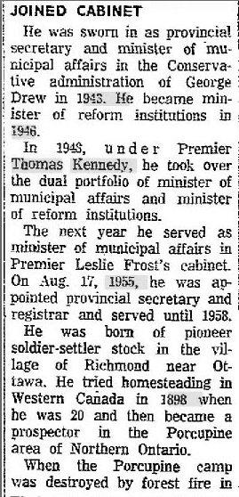 George Dunbar Newspaper Clipping 2