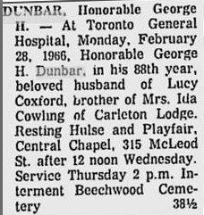 George Dunbar Newspaper Clipping 4