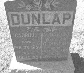 Tombstone for Gabriel Dunlap