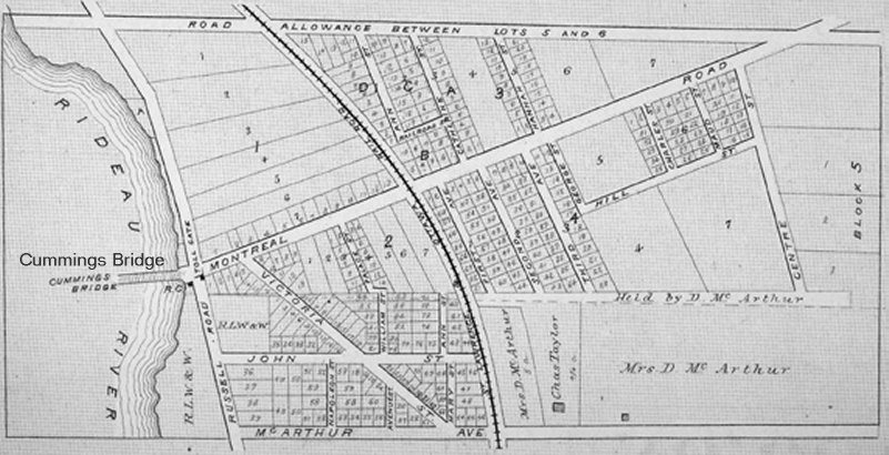 Janeville / Eastview / Vanier Map in 1879