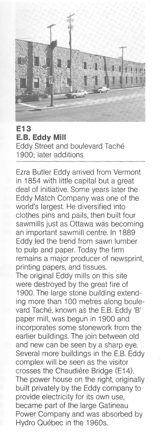E.B. Eddy Sawmill at Chaudiere Falls