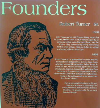 Robert Turner, Sr, one of the six Founders of Eganville