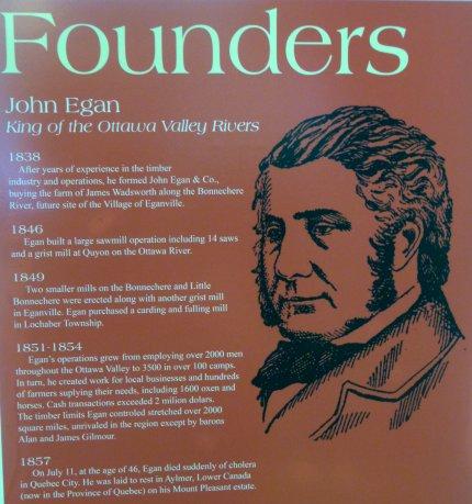 John Egan, one of the six Founders of Eganville