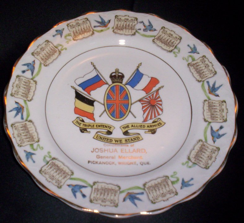 Plate from Joshua Ellard, WW1