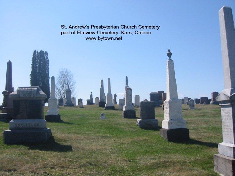 Elmview Presbyterian Cemetery at Kars, Ontario, Canada