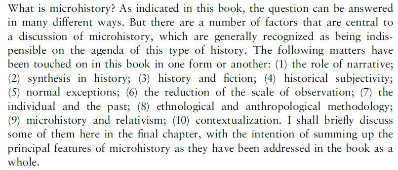 What is Microhistory? - an excerpt from the book What is Microhistory? Theory and Practice