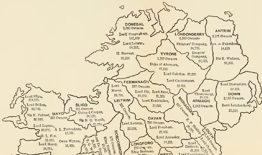 Map of Ireland in 1881