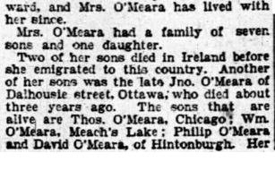 Omeara, widow from the Irish Famine